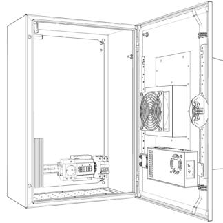 Термошкаф «Амадон» ТША118-40.60.25-100-У1-O100 с охладителем Пельтье