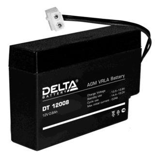 DT 12008 (T9) Аккумулятор Delta. Номинальная емкость 0.8 Ач.