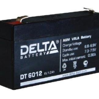 DT 6012 Аккумулятор Delta. Номинальная емкость 1.2 Ач.