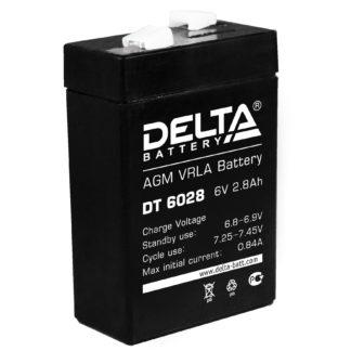 DT 6028 Аккумулятор Delta. Номинальная емкость 2.8 Ач.