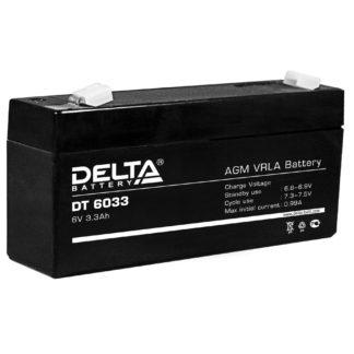 DT 6033 (125) Аккумулятор Delta. Номинальная емкость 3.3 Ач.
