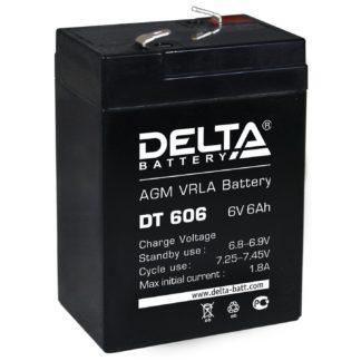 DT 606 Аккумулятор Delta. Номинальная емкость 6 Ач.