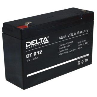 DT 612 Аккумулятор Delta. Номинальная емкость 12 Ач.