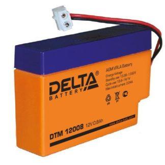 DTM 12008 Аккумулятор Delta. Номинальная емкость 0.8 Ач.