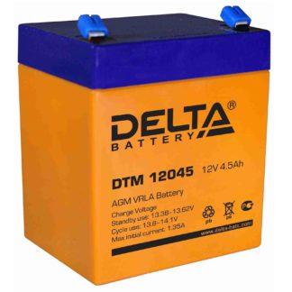 DTM 12045 Аккумулятор Delta. Номинальная емкость 4.5 Ач.