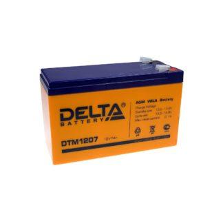 DTM 1207 Аккумулятор Delta. Номинальная емкость 7.2 Ач.