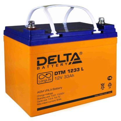 DTM 1233 L Аккумулятор Delta. Номинальная емкость 33 Ач.