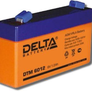 DTM 6012 Аккумулятор Delta. Номинальная емкость 1.2 Ач.