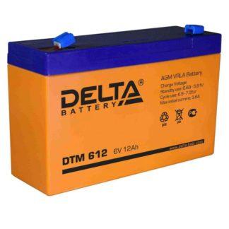 DTM 612 Аккумулятор Delta. Номинальная емкость 12 Ач.