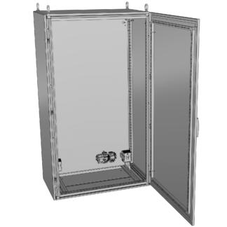 Термошкаф «Амадон» из нержавеющей стали ТША910-80.180.50-500-У1-AISI304-IP66