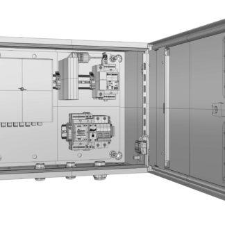 Термошкаф «Амадон» ТША120-ПО-38.30.21-60-УХЛ1-И.1Е1 с установленным оборудованием передачи Ethernet-канала