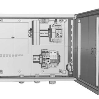Термошкаф «Амадон» ТША120-ПО-38.30.21-60-УХЛ1-И.1И1 с установленным оборудованием передачи данных RS232/422/485 по оптоволокну (SM)