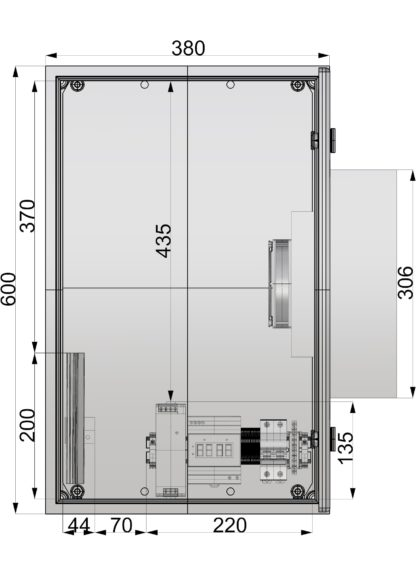 Термошкаф 'Амадон' ТША118-38.60.21-75-У1-O100.k12 с элементом Пельтье