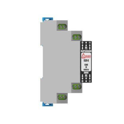 УЗЛ-К  — Устройство защиты линии видеосигнала с коаксиальным кабелем, защита по питанию
