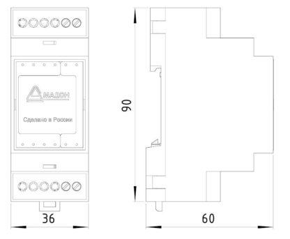 УЗЛЕ-1 — Устройство защиты линии Ethernet 10/100 Мбит/с без PoE