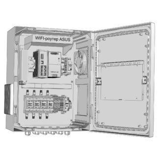 Термошкаф  ТША522-ВЦ-4.2.3-K1-АС1 для систем видеонаблюдения (пластиковый, на 4 видеокамеры, без АКБ, с Wi-fi роутером)