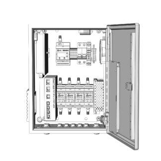 Термошкаф ТША521-ВЦ422-ХХ для систем видеонаблюдения ( пластиковый, на 4 видеокамеры, без АКБ )