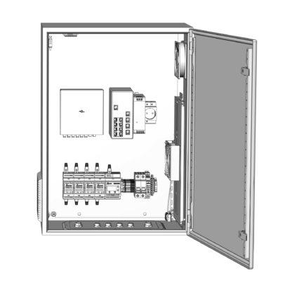 Термошкаф ТША122-ВЦ424-ХХ для систем видеонаблюдения ( металлический, на 4 видеокамеры, без АКБ )