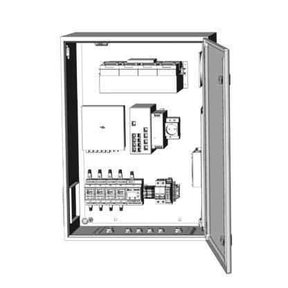 Термошкаф ТША122-ВЦ414-ХХ для систем видеонаблюдения ( металлический, на 4 видеокамеры, c АКБ )