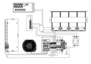 Термошкаф для видеонаблюдения ТША122-ВЦ414-XX - схема