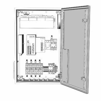 Термошкаф ТША122-ВЦ413-ХХ для систем видеонаблюдения ( металлический, на 4 видеокамеры, c АКБ )
