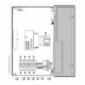 Термошкаф ТША122-ВЦ423-ХХ для систем видеонаблюдения ( металлический, на 4 видеокамеры, без АКБ )