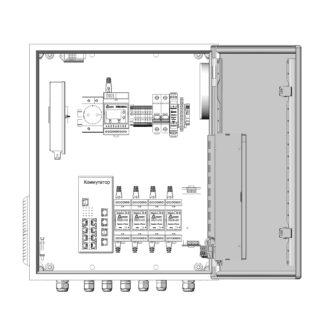 Термошкаф ТША122-ВЦ425-ХХ для систем видеонаблюдения ( металлический, на 4 видеокамеры, без АКБ )