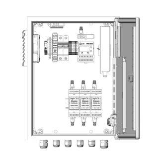 Термошкаф ТША121-ВЦ322 для систем видеонаблюдения ( металлический, на 3 видеокамеры, без АКБ, без коммутатора )