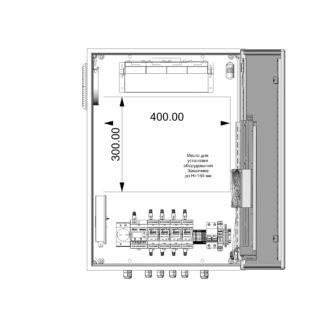 Термошкаф ТША122-ВЦ414 для систем видеонаблюдения ( металлический, на 4 видеокамеры, с АКБ, без коммутатора )