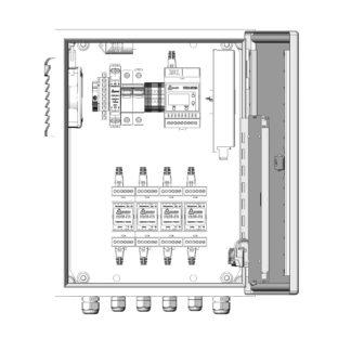 Термошкаф ТША121-ВЦ422 для систем видеонаблюдения ( металлический, на 4 видеокамеры, без АКБ, без коммутатора )