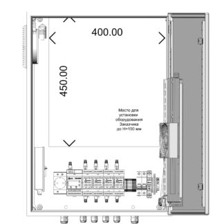 Термошкаф ТША122-ВЦ424 для систем видеонаблюдения ( металлический, на 4 видеокамеры, без АКБ, без коммутатора )