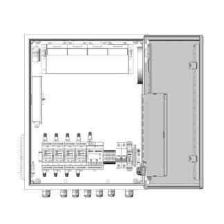Термошкаф ТША122-ВЦ415 для систем видеонаблюдения ( металлический, на 4 видеокамеры, с АКБ, без коммутатора )