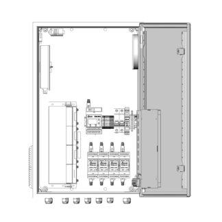 Термошкаф ТША122-ВЦ413 для систем видеонаблюдения ( металлический, на 4 видеокамеры, с АКБ, без коммутатора )