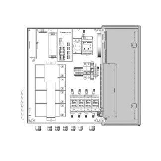 Термошкаф ТША122-ВЦ415-ХХ для систем видеонаблюдения ( металлический, на 4 видеокамеры, c АКБ )