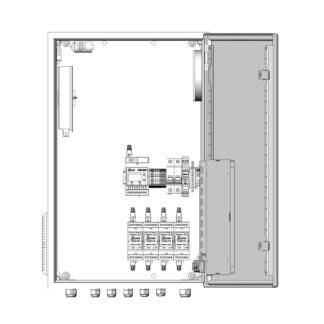 Термошкаф ТША122-ВЦ423 для систем видеонаблюдения ( металлический, на 4 видеокамеры, без АКБ, без коммутатора )