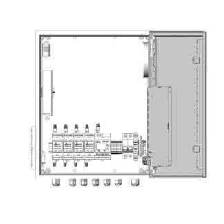 Термошкаф ТША122-ВЦ425 для систем видеонаблюдения ( металлический, на 4 видеокамеры, без АКБ, без коммутатора )