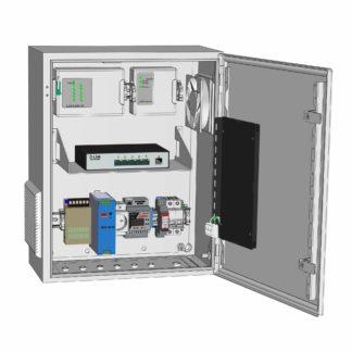 Термошкаф ТША122-ПСУ165-DL5 c оборудованием системы ОПС «Болид», с видеонаблюдением