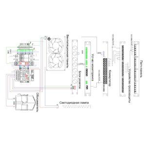 ТША416-63.60-11U.60-400-ТКМ-УХЛ1 - электрическая схема