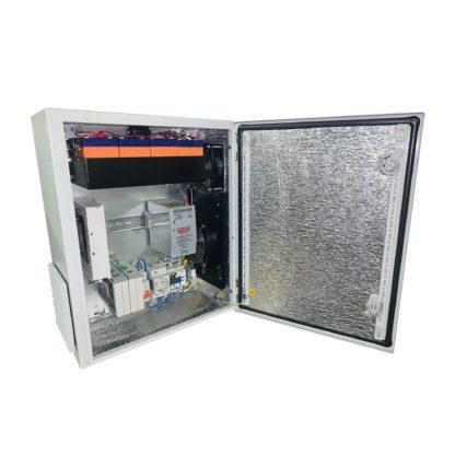 Термошкаф ТША122-ВЦ415-1920 для систем видеонаблюдения ( металлический, на 8 видеокамер, c АКБ )