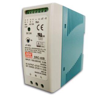 DRC-40B  — Блок питания Mean Well, 40 Вт, 24 В, с функцией UPS (ИБП)