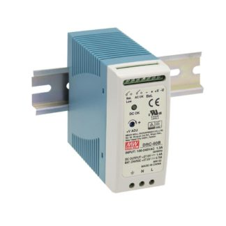 DRC-60B  — Блок питания Mean Well, 60 Вт, 24 В, с функцией UPS (ИБП)