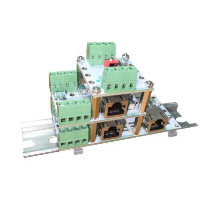 ЗЛС-2Д — Устройство защиты линий ( 2 линии промышленной связи RS-485/RS422, CAN )