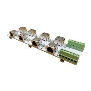 ЗЛС-4ЕП-48 — Устройство защиты линий Ethernet. 4 канала