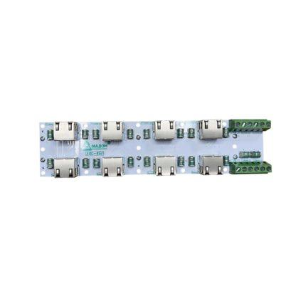 ЗЛС-4ЕП-24 — Устройство защиты линий ( 4 линии Ethernet + 2 линии питания 24 В )