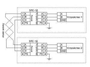 ЗЛС-Д - схема подключения
