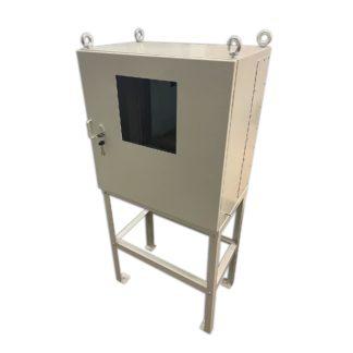 Взрывозащищенный  термошкаф «Амадон» ТША810-Ex-80.80.50-500-2011 со смотровым окном, напольное основание