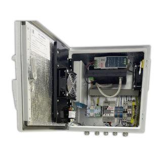 """Термошкаф """"Амадон"""" ТША121-ВЦ-30.30.21-ST-NSGate1-2 для видеонаблюдения, с коммутатором"""