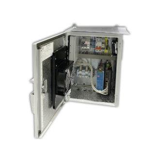 """Термошкаф """"Амадон"""" ТША121-ВЦ-30.40.21-ST-NSGate1-4 для видеонаблюдения, с коммутатором"""