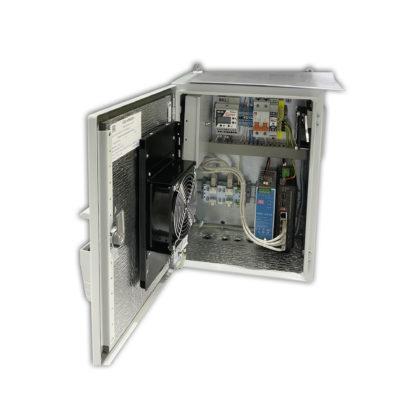 Термошкаф «Амадон» ТША121-ВЦ-30.40.21-ST-NSGate1-4 для видеонаблюдения, с коммутатором