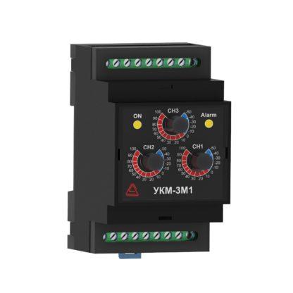 УКМ-3М1 — Устройство контроля микроклимата, 3 настраиваемых канала + фиксированный канал влажности